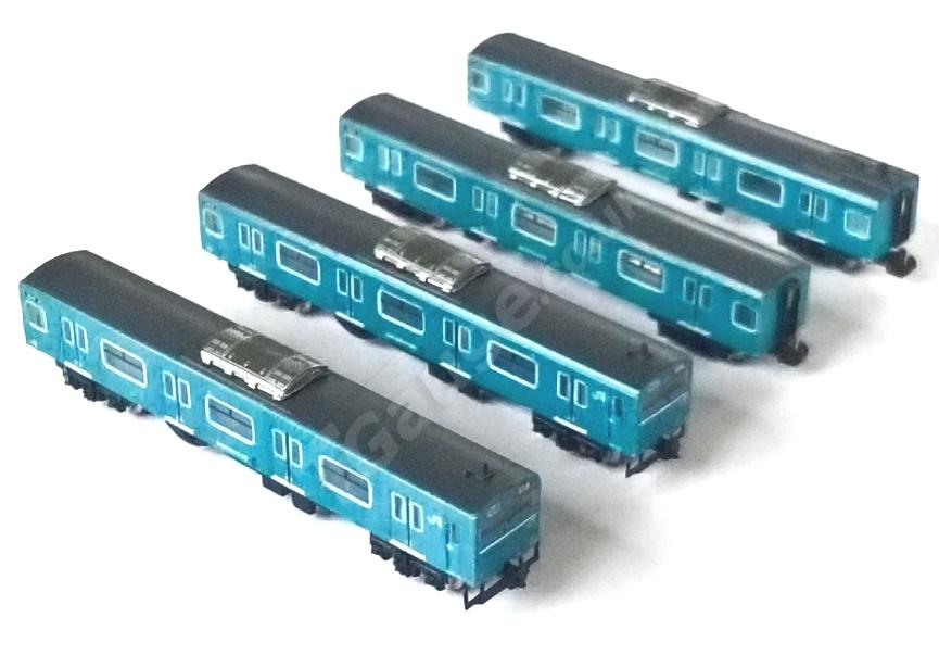 Blue 103 4 Car Set