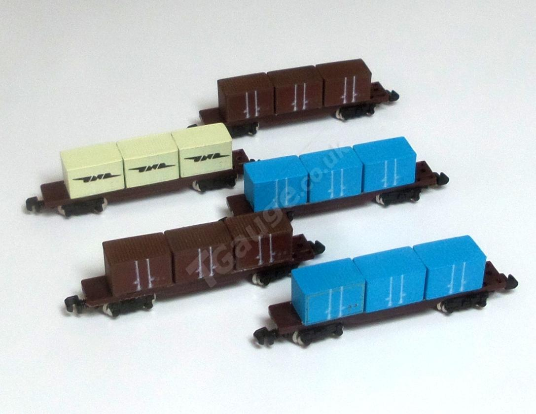 041 5 Container Wagon Set